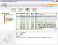 Sim card deleted data recovery tool screenshot